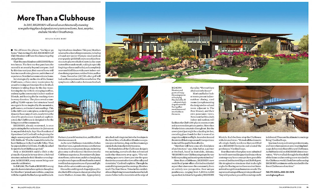 More Than a Clubhouse article in Palm Springs Life Magazine